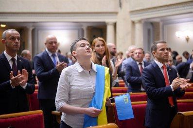 Nadiya Savchenko in parliament