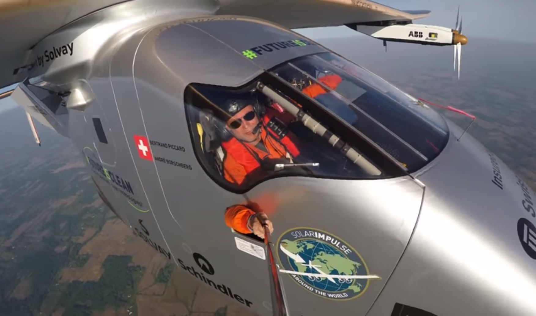 solar impulse selfie video