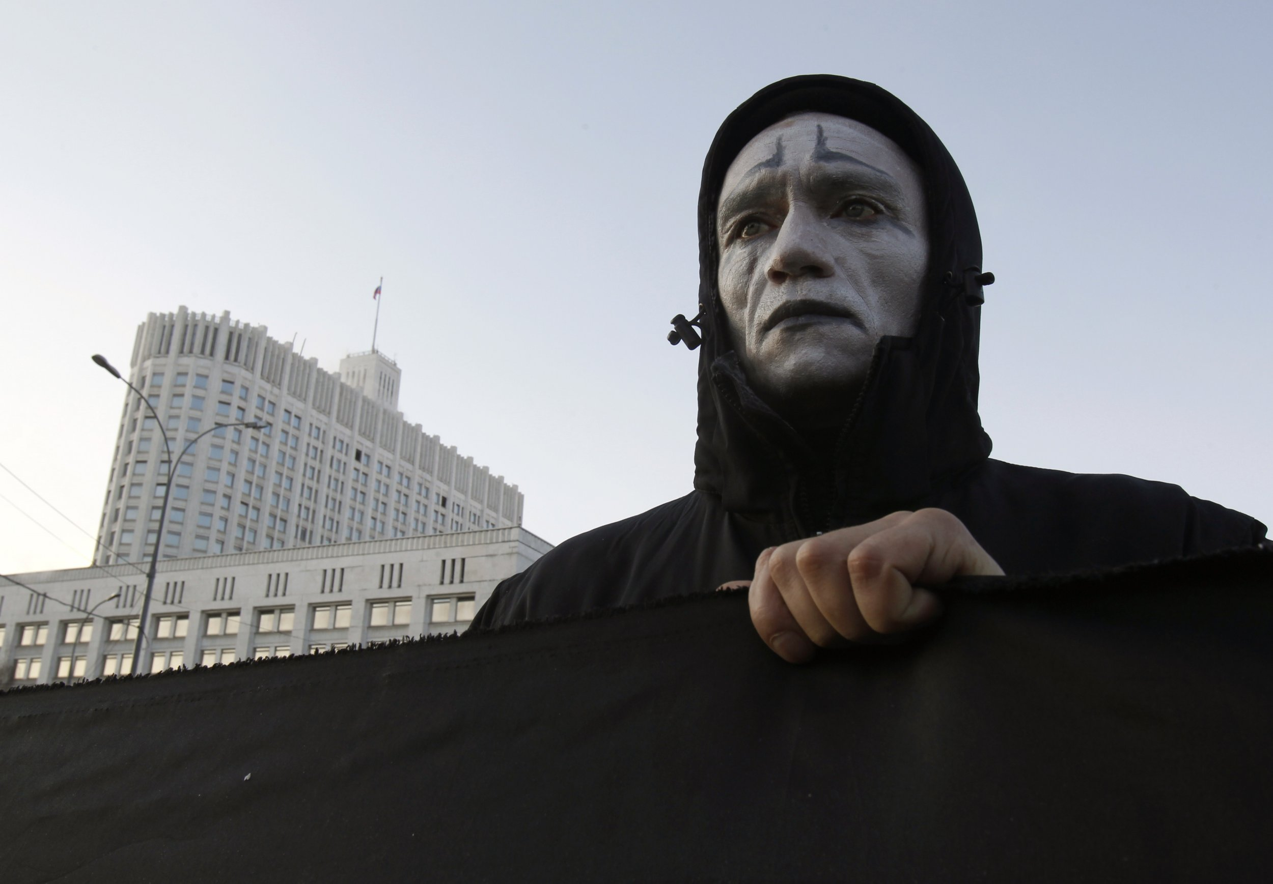 Russian HIV protester