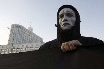 Russian HIV protester