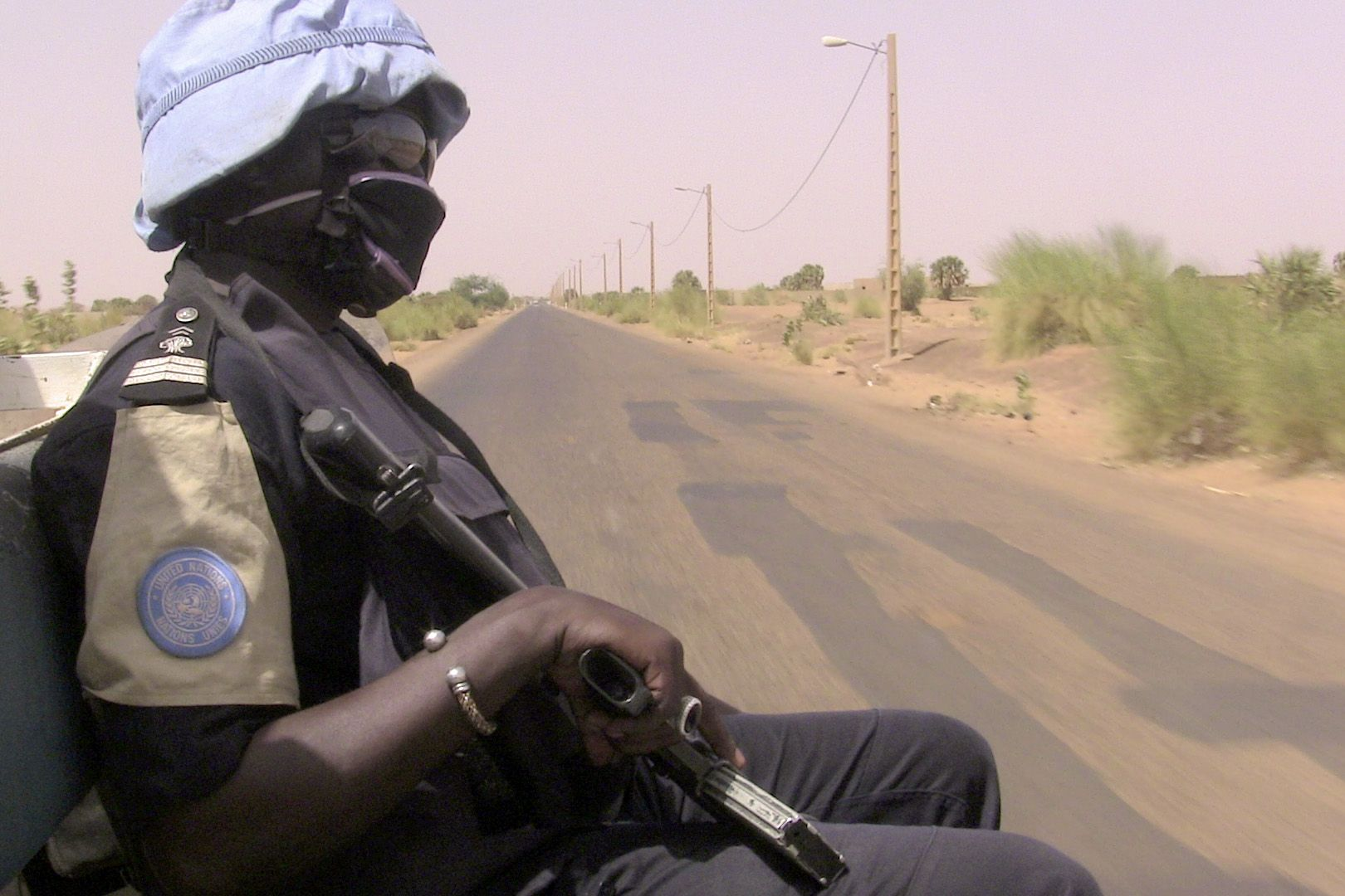 Malian police on patrol with MINUSMA.