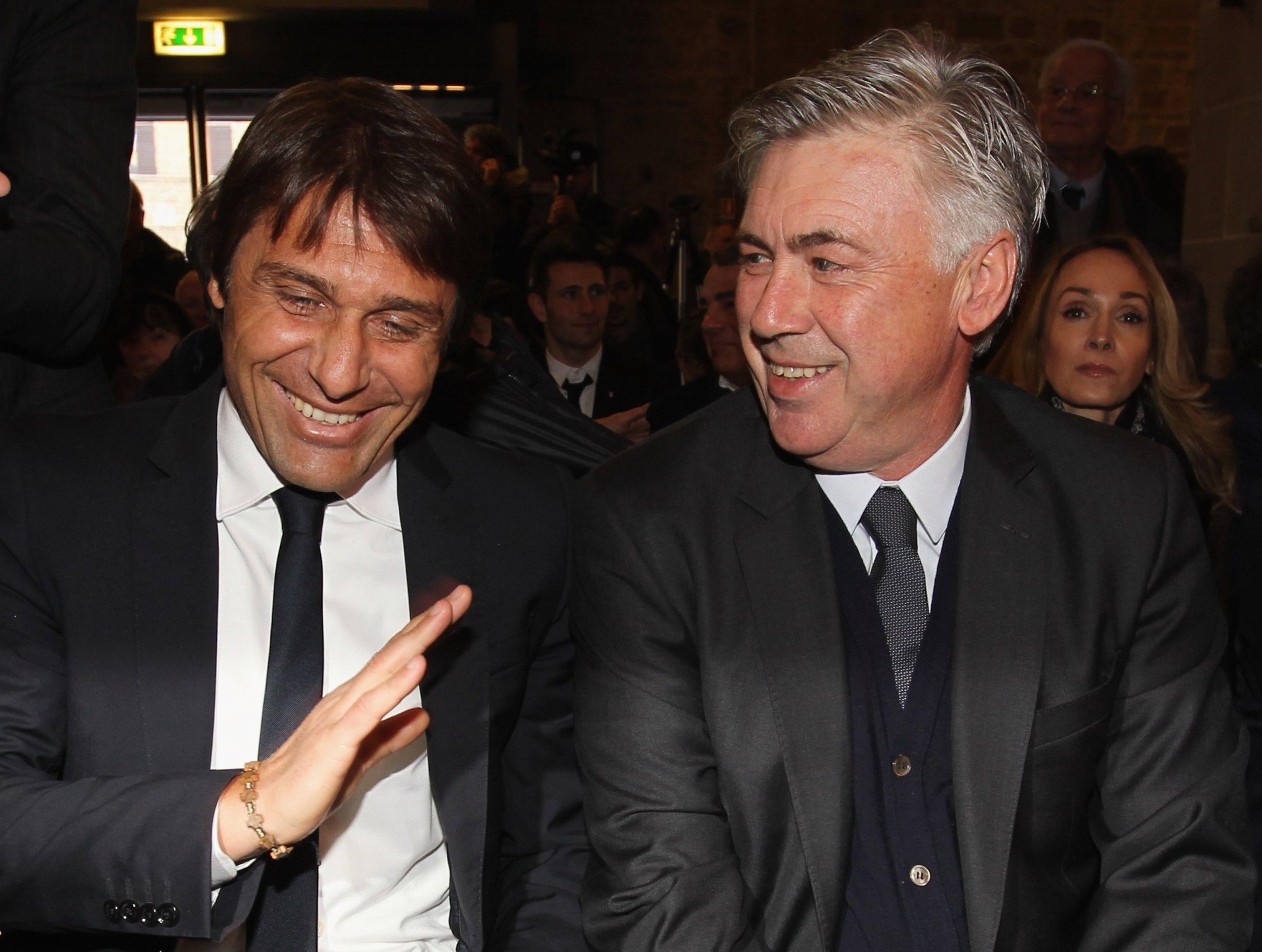 Znalezione obrazy dla zapytania conte ancelotti