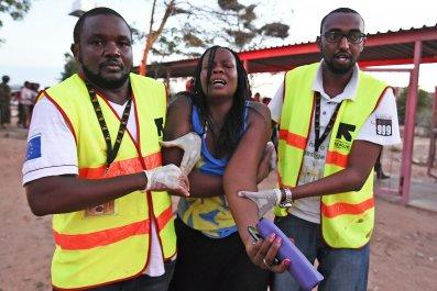 Injured Garissa university student.