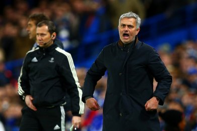 Jose Mourinho, Manchester United manager, right