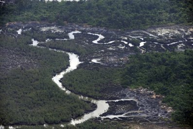 Niger Delta oil spills.