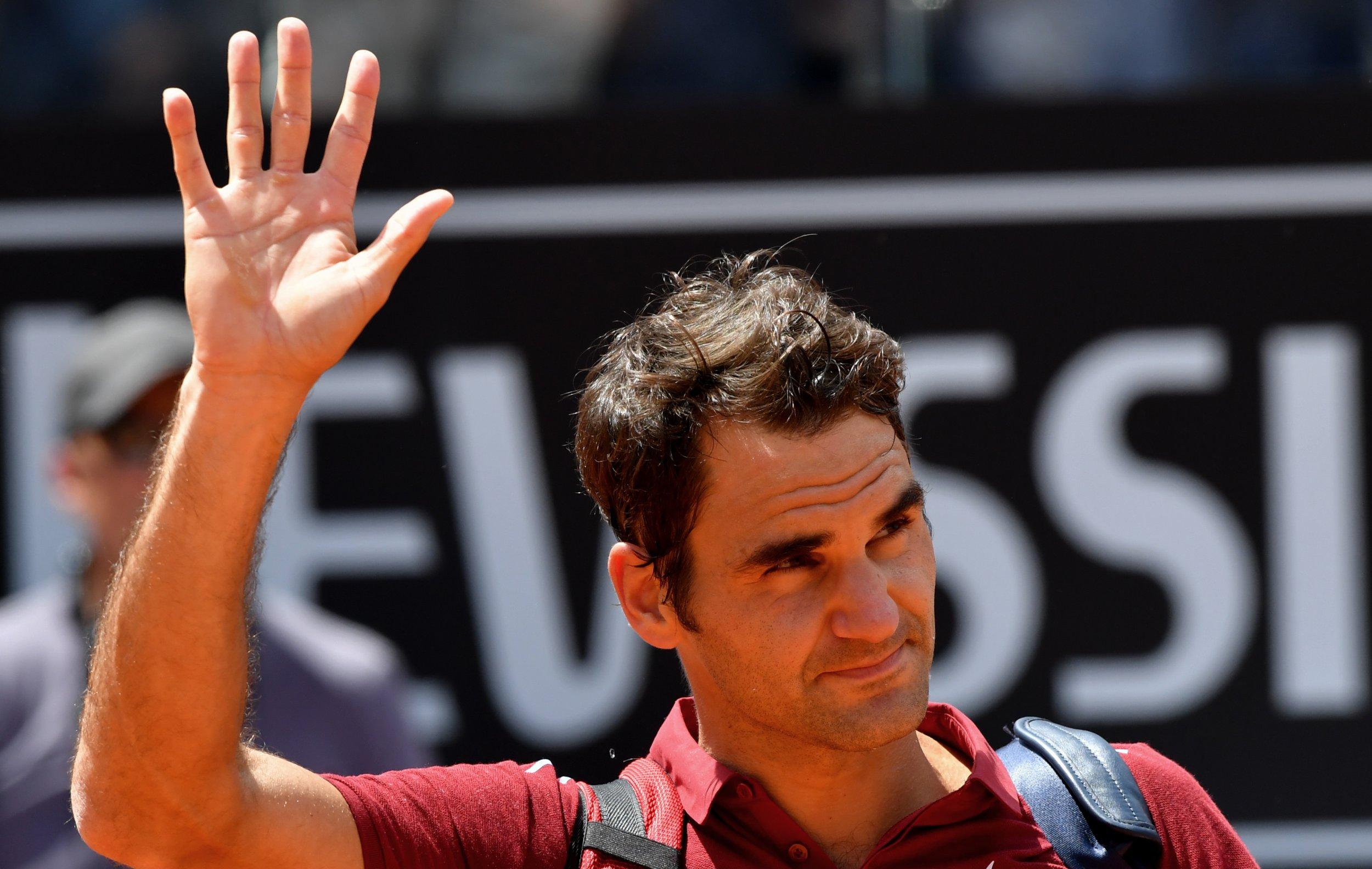 Swiss tennis icon Roger Federer.