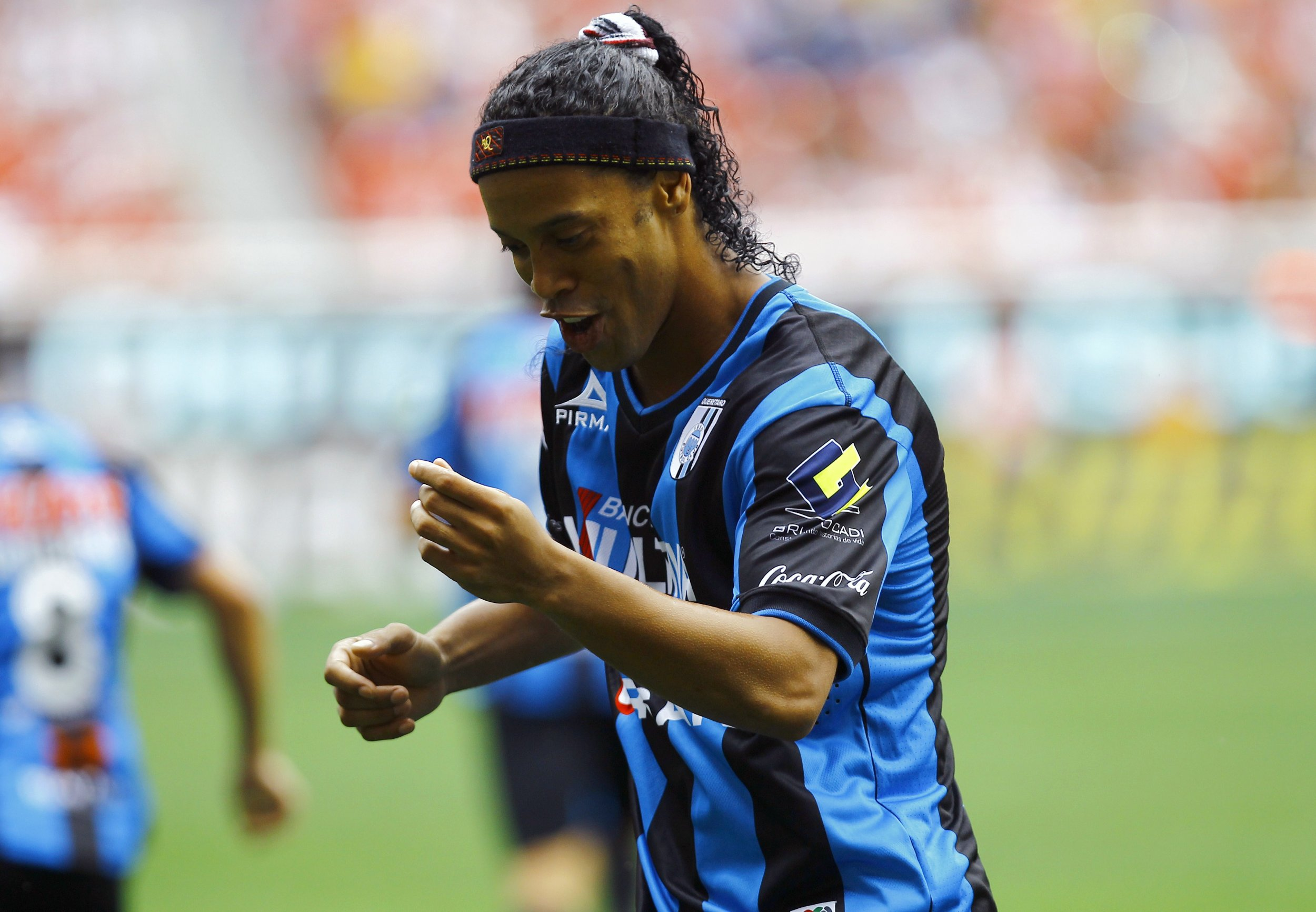 Brazilian footballer Ronaldinho.
