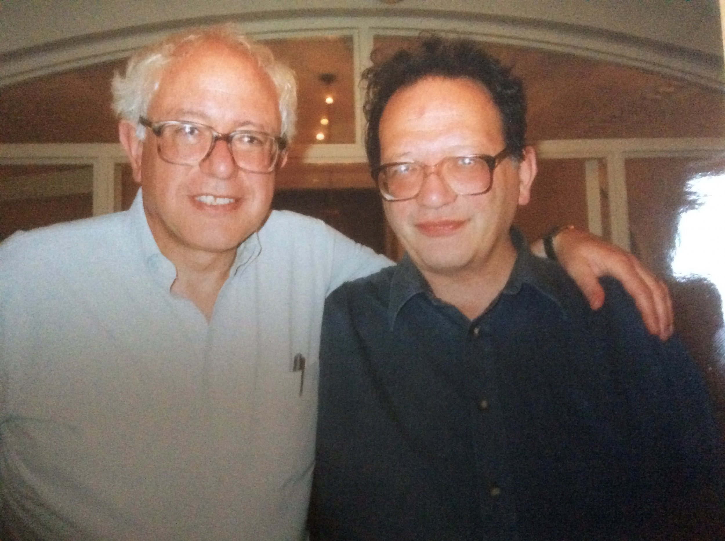 Larry Sanders (R) and Bernie Sanders (L)