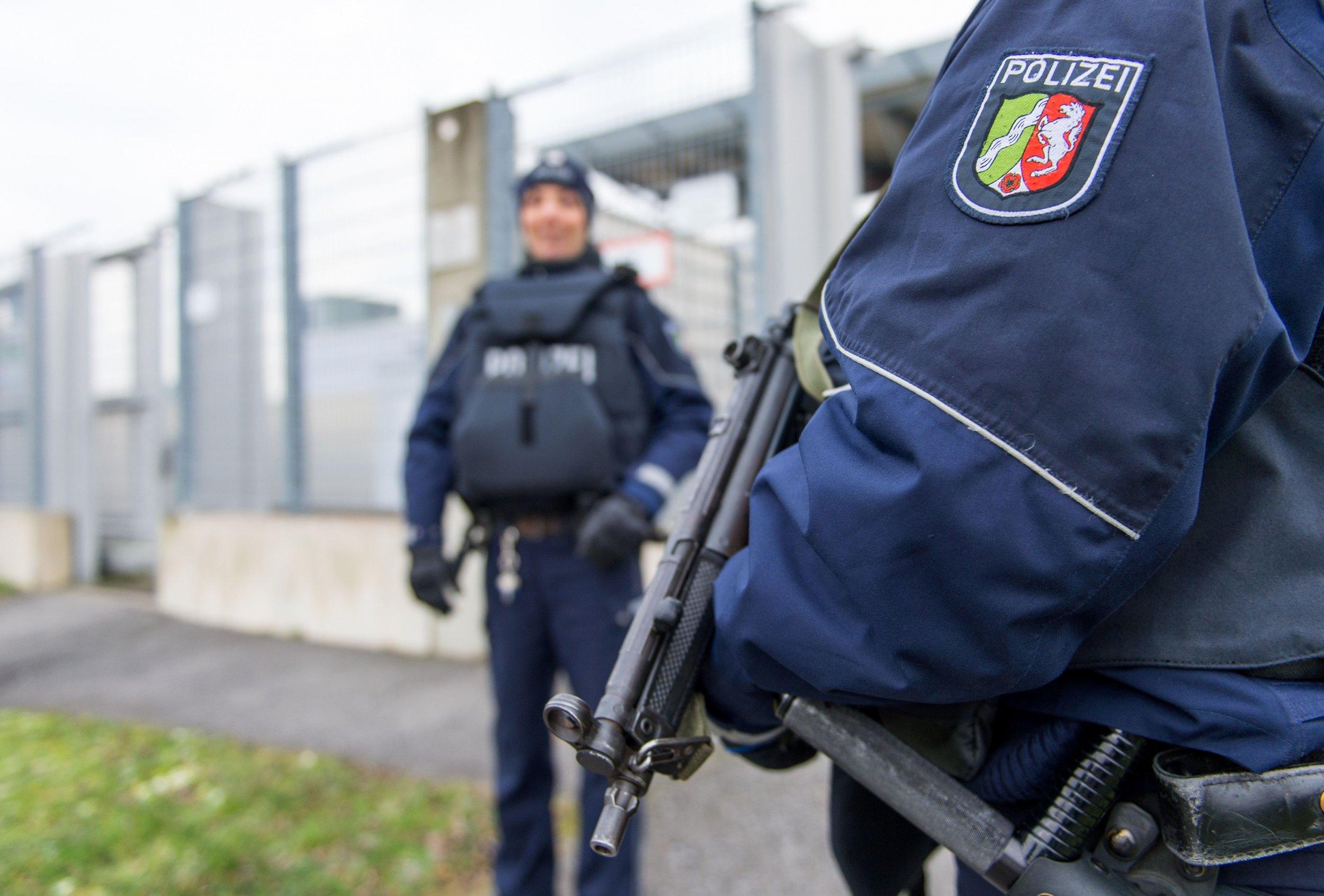 German police in Dusseldorf