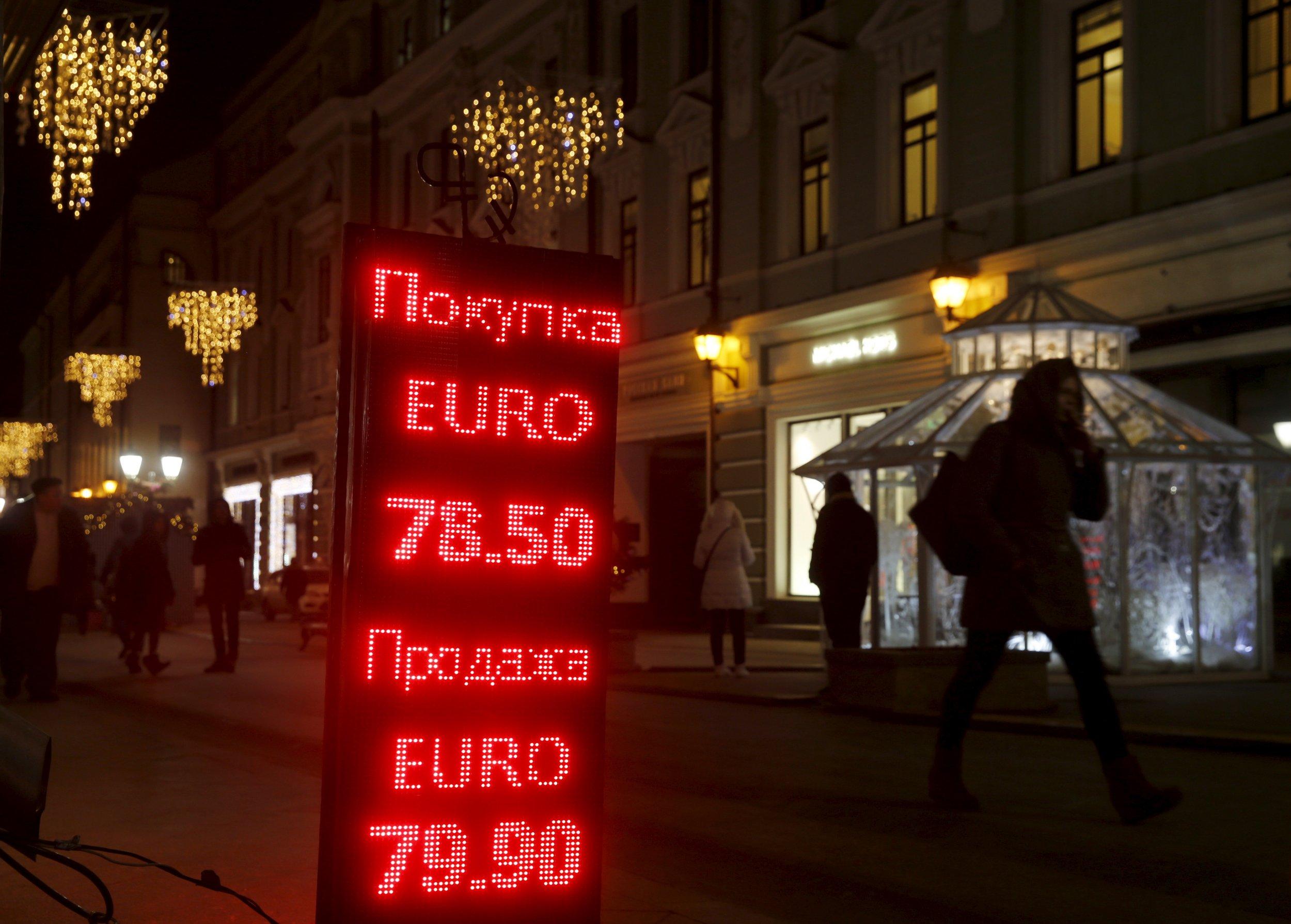 Euro exchange rate