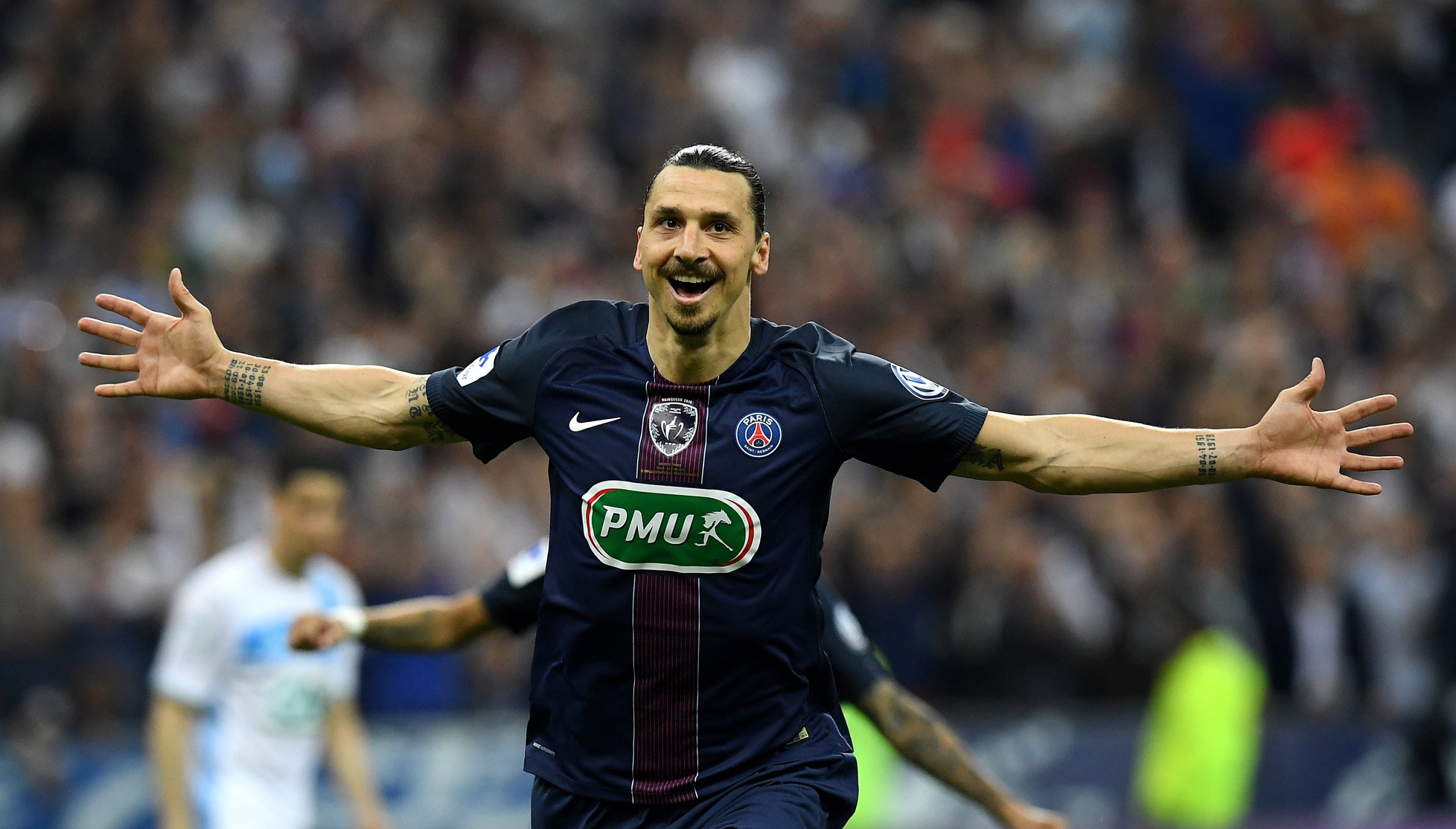 Swedish striker Zlatan Ibrahimovic.