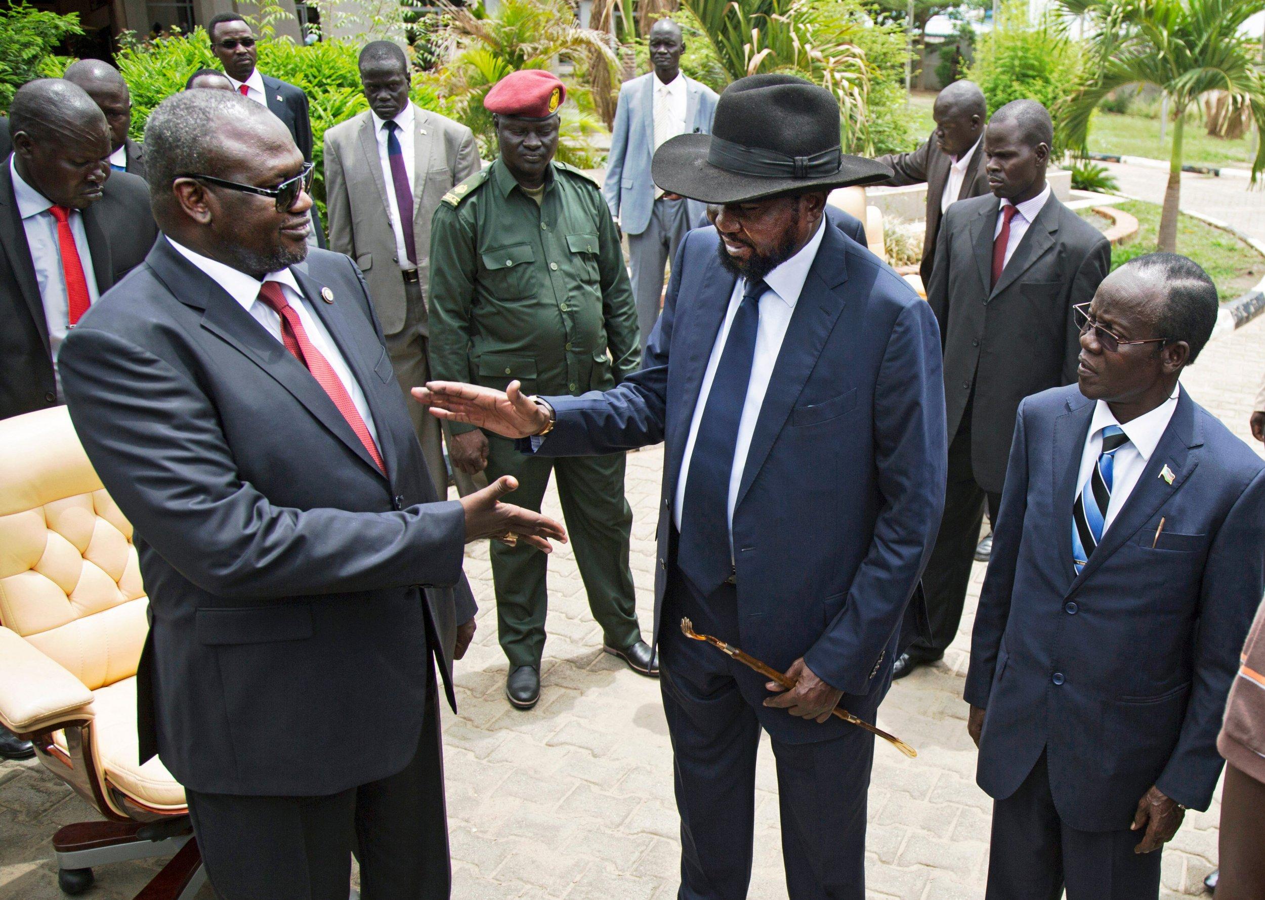 Riek Machar and Salva Kiir in South Sudan.
