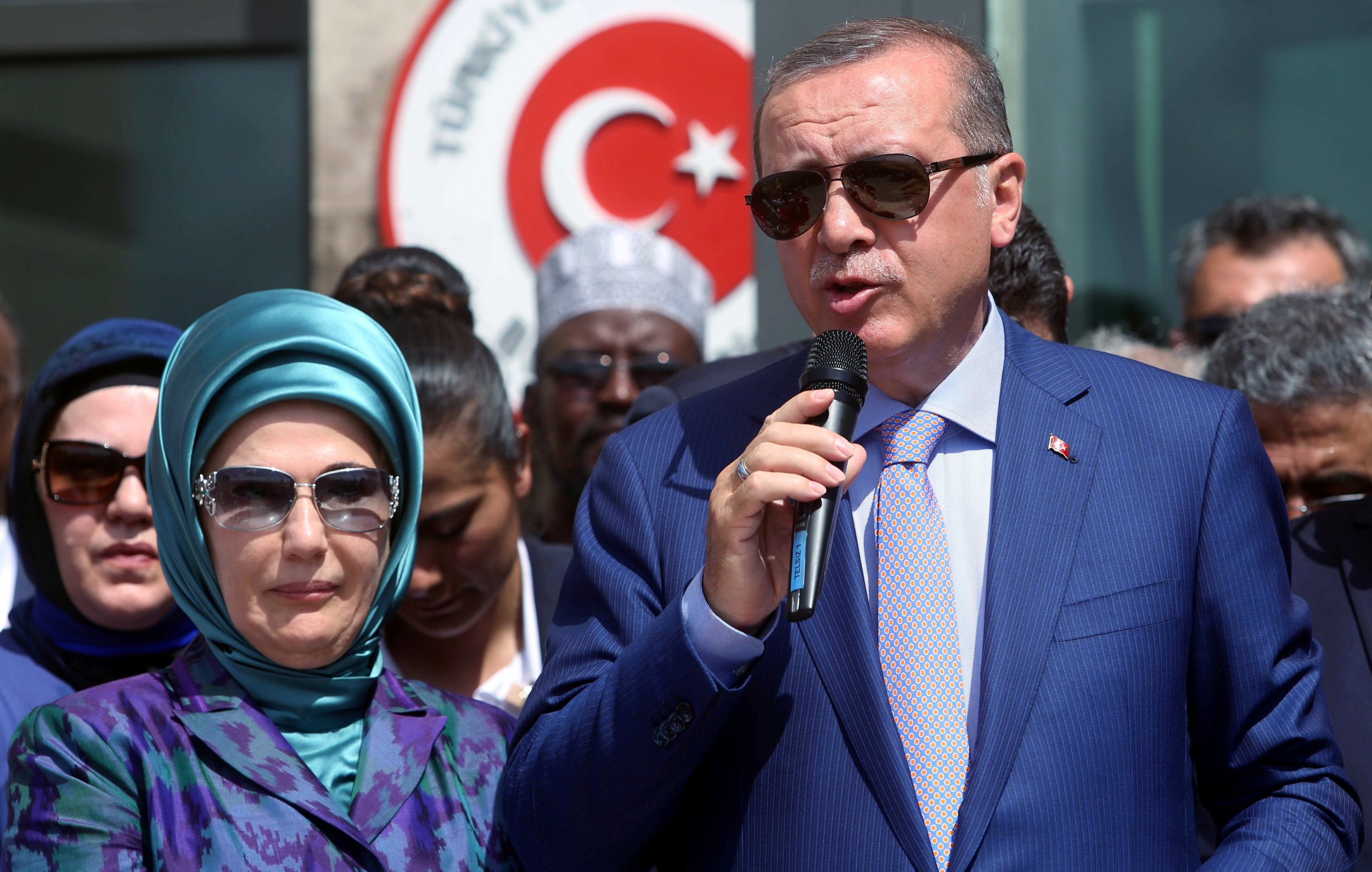 Erdogan and wife