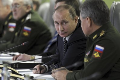 Vladimir Putin and Sergei Shoigu