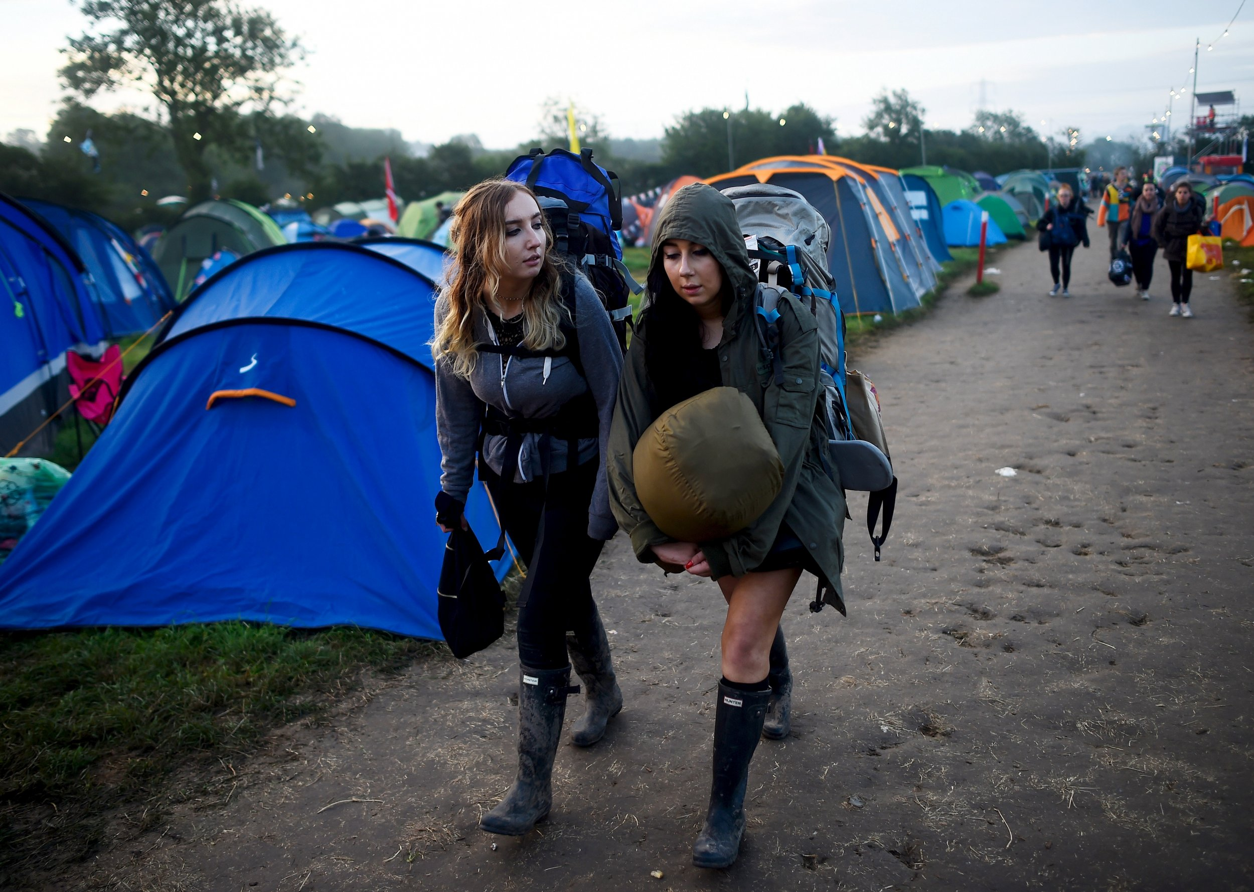 Glastonbury festivalgoers