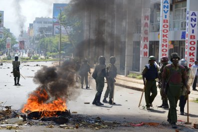 Kenya opposition protests.
