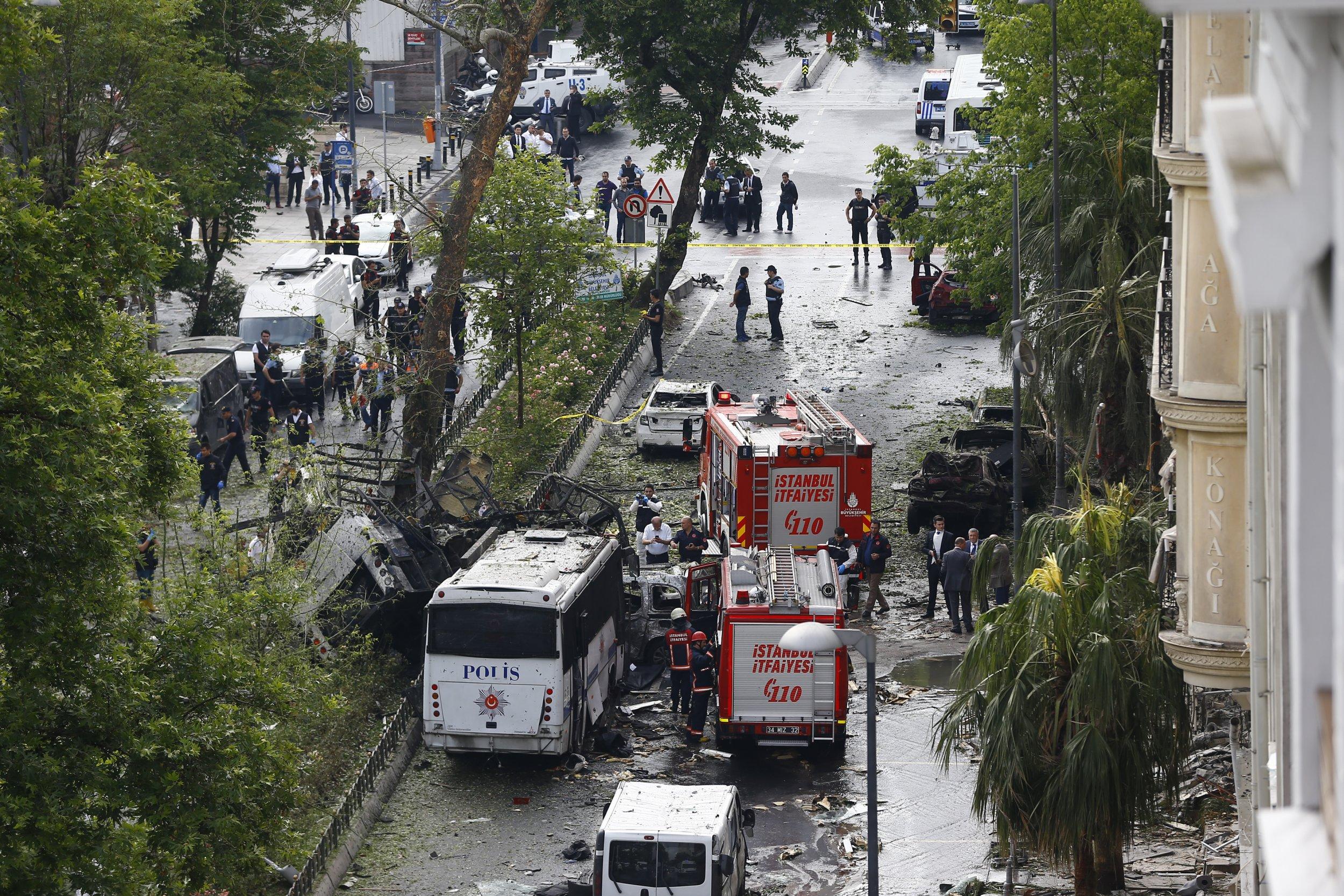 Istanbul police bus bomb.