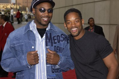 Lennox Lewis, left, with Hollywood star Will Smith.