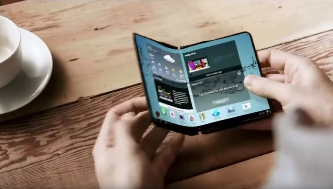 samsung bendable smartphone OLED screen