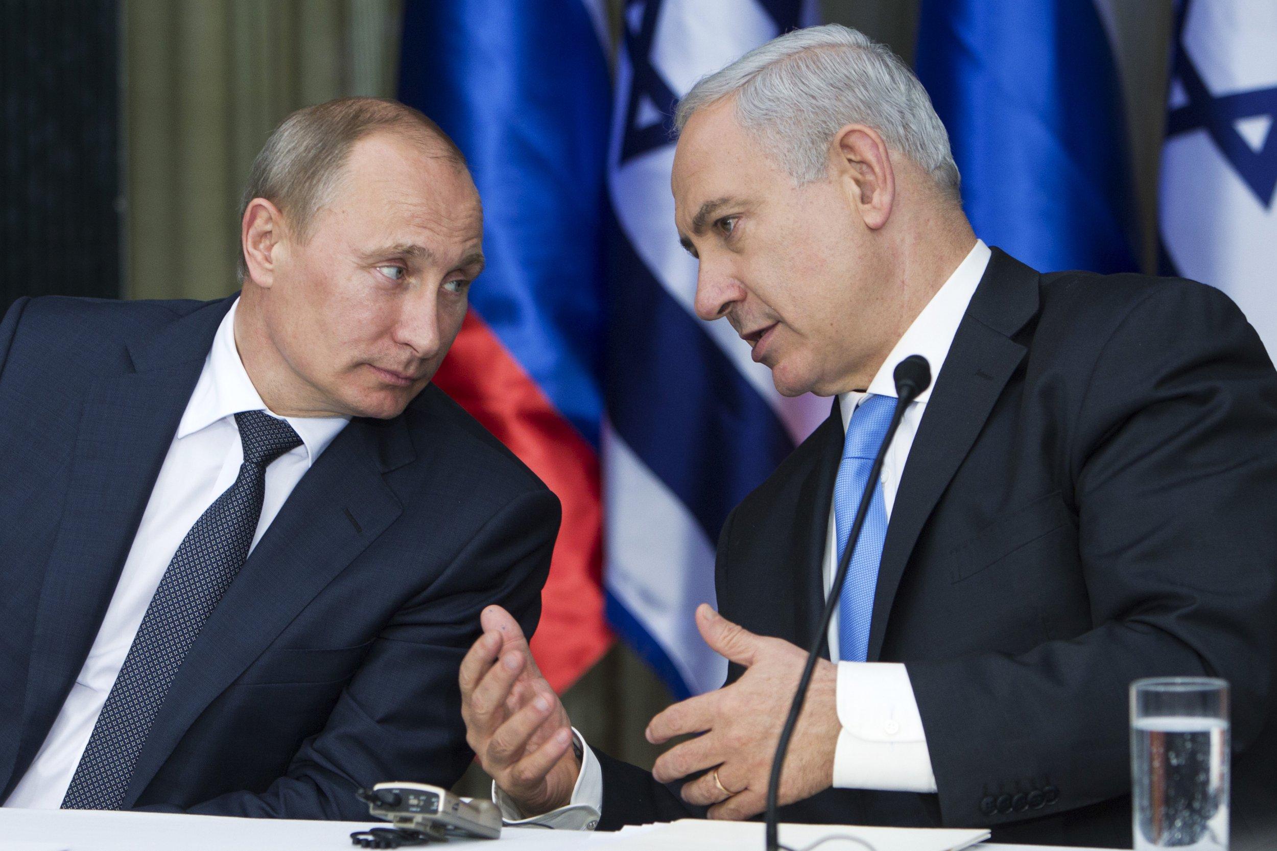 Vladimir Putin and Benjamin Netanyahu