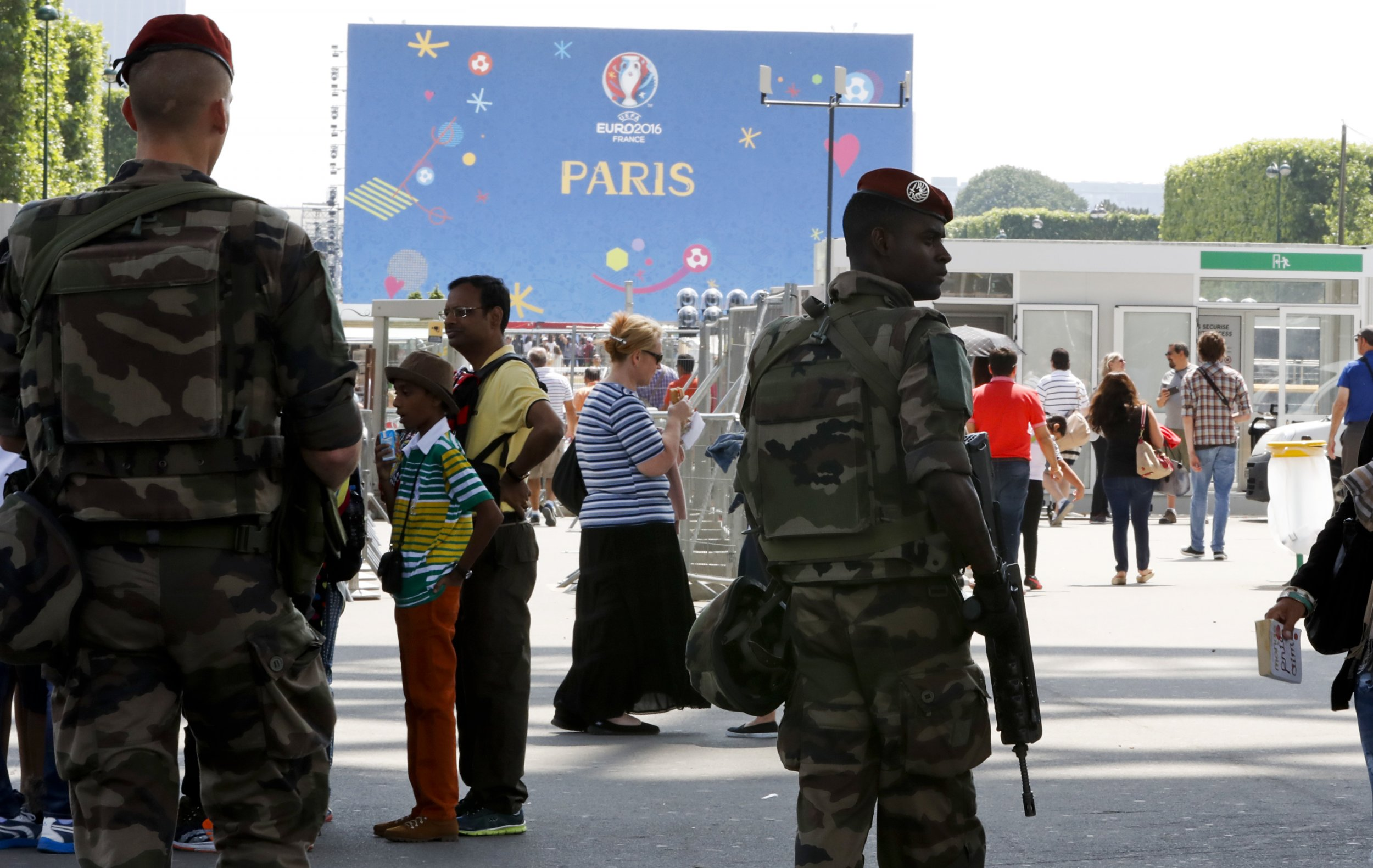 Euro 2016 Attacks Soldiers