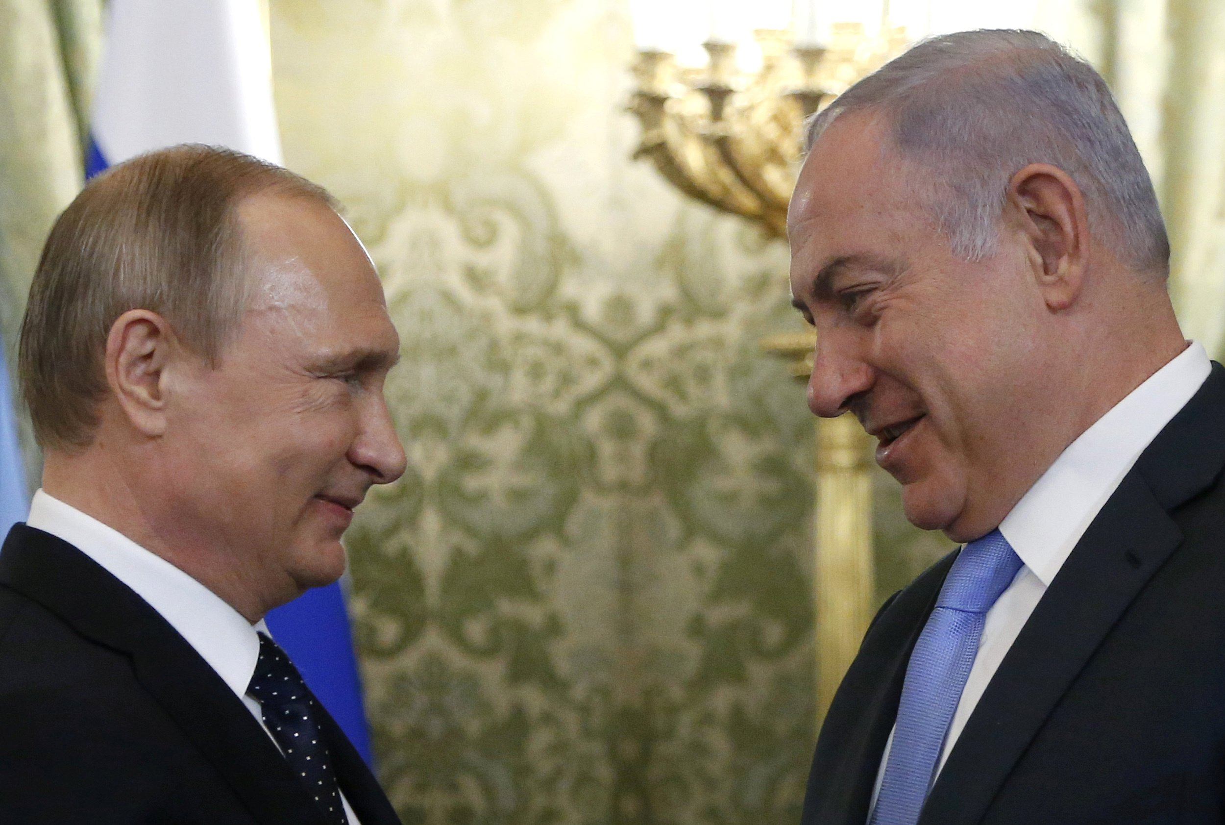 Image result for putin's friendly meeting with netanyahu
