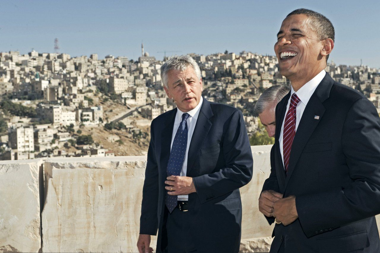 Hagel and Obama