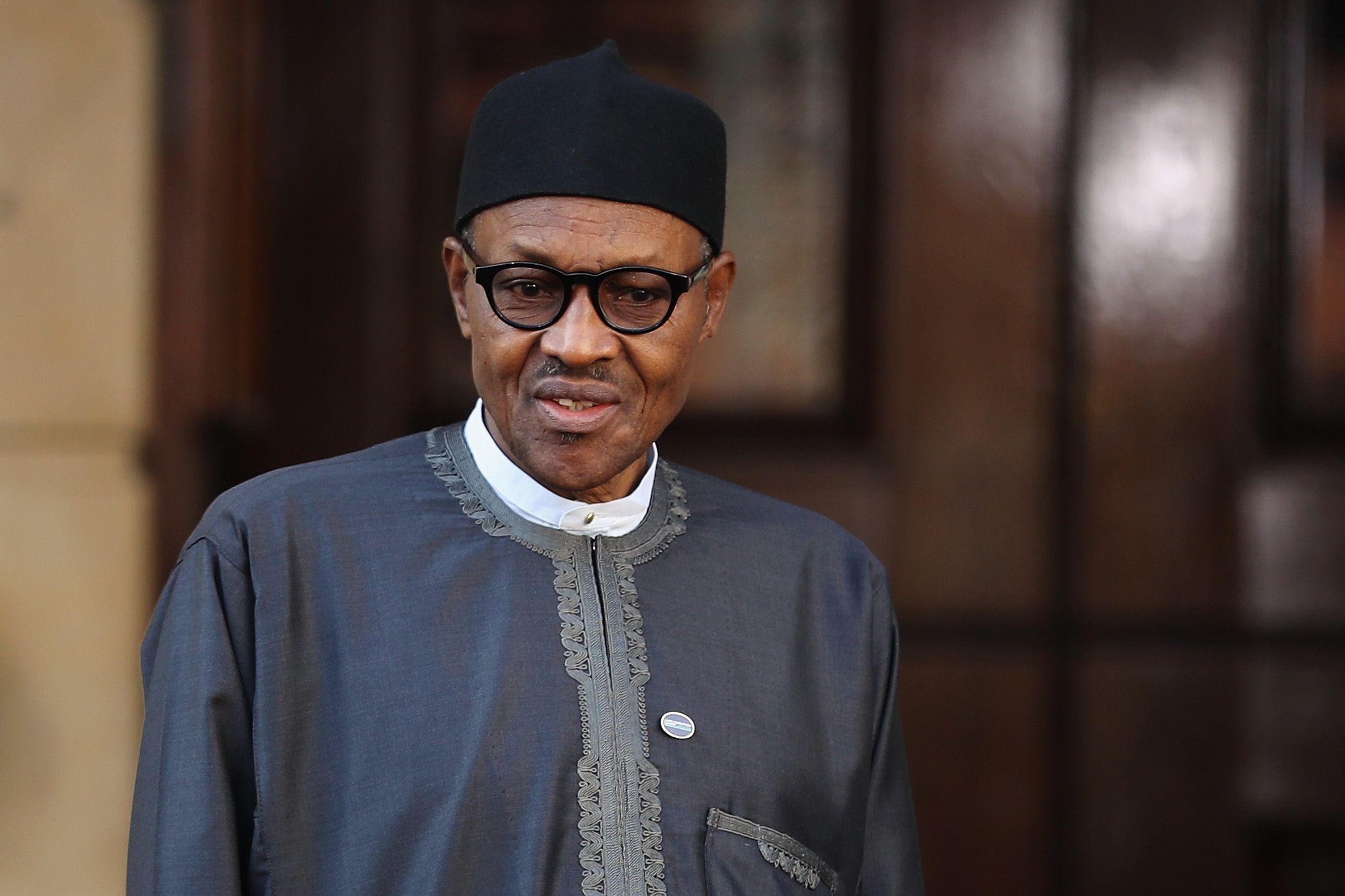 Nigerian President Muhammadu Buhari in London.