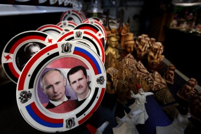 Syrian President Bashar al-Assad and Russian President Vladimir Putin