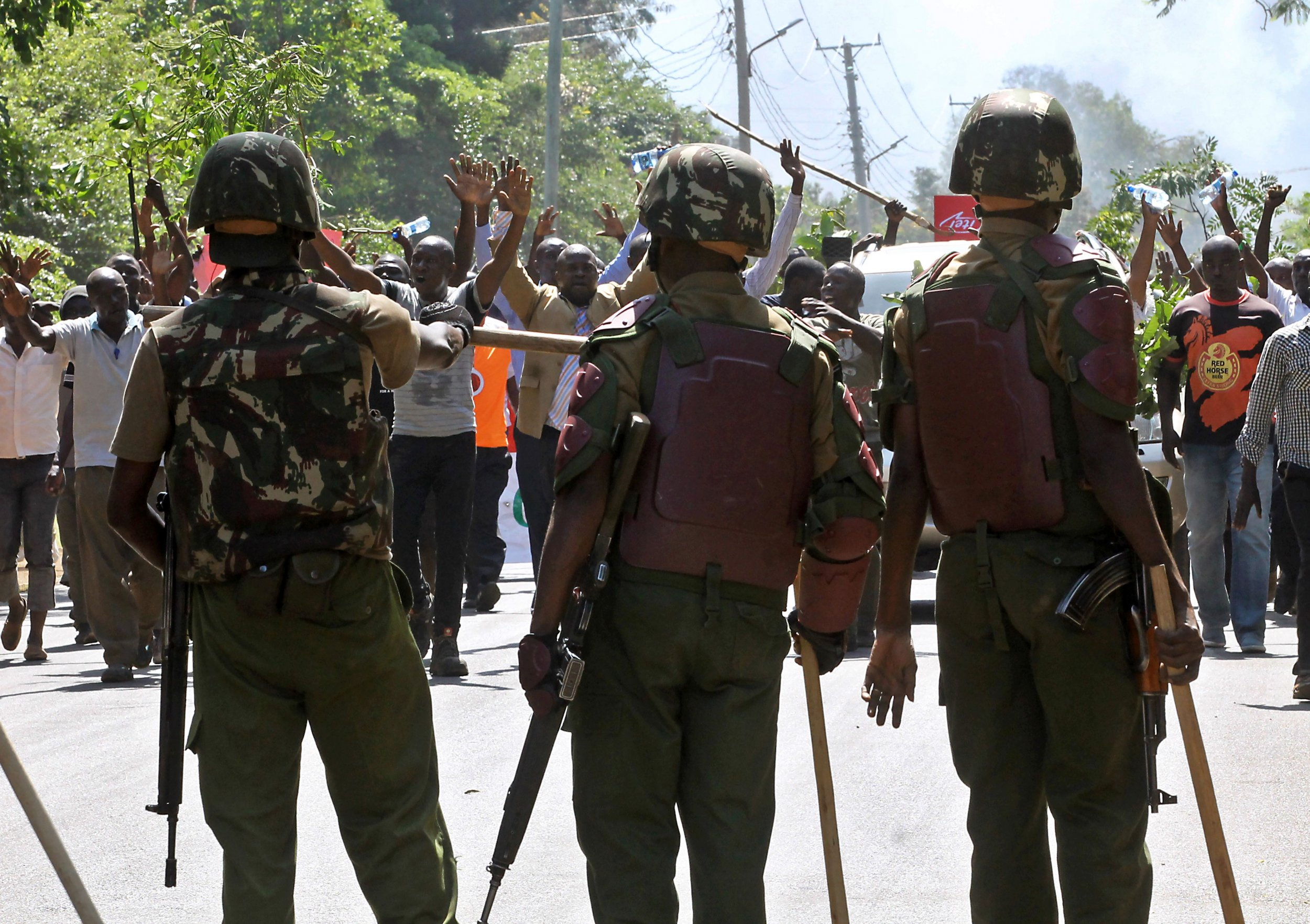 Kenya police officers.