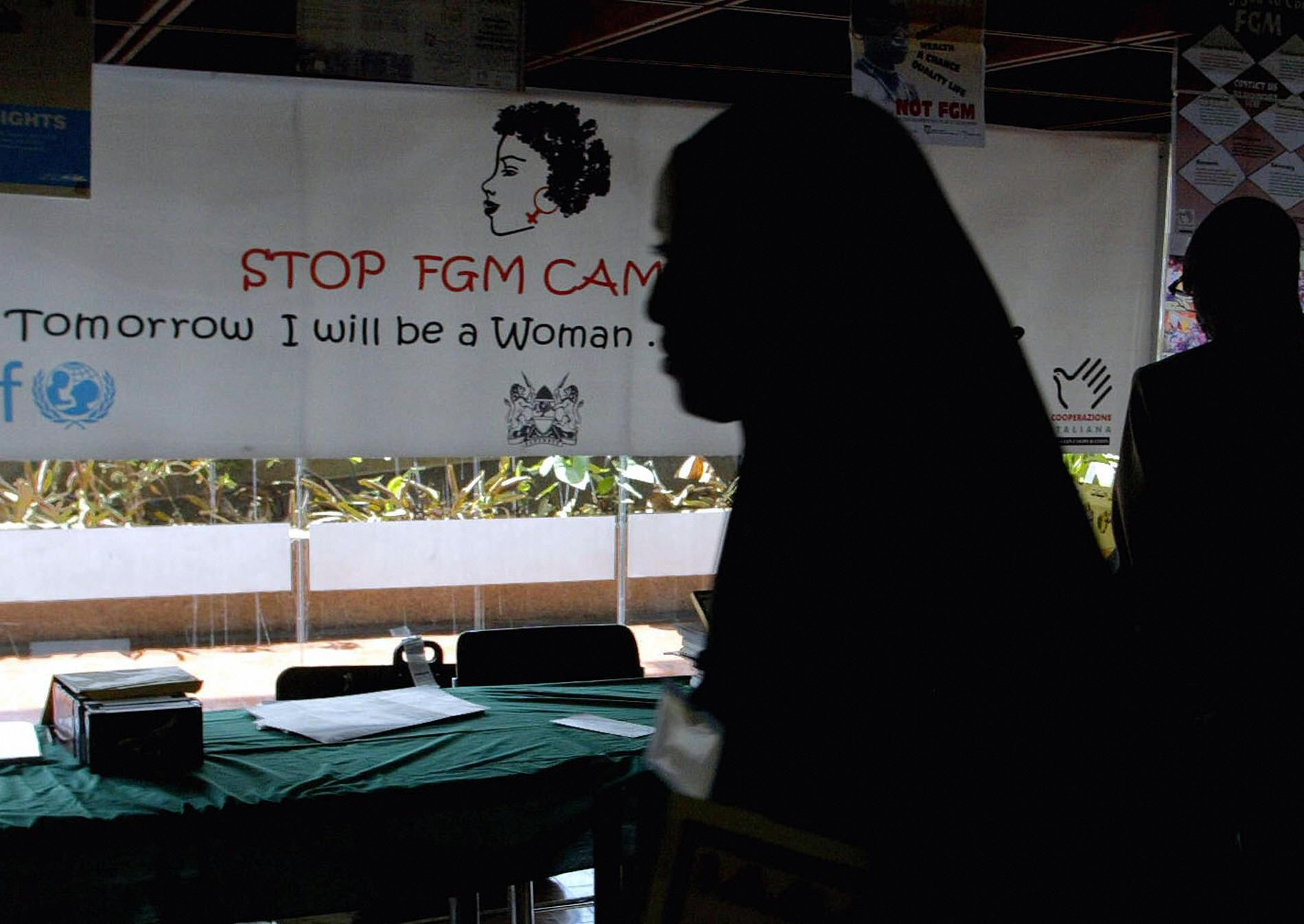 Anti-FGM banner.