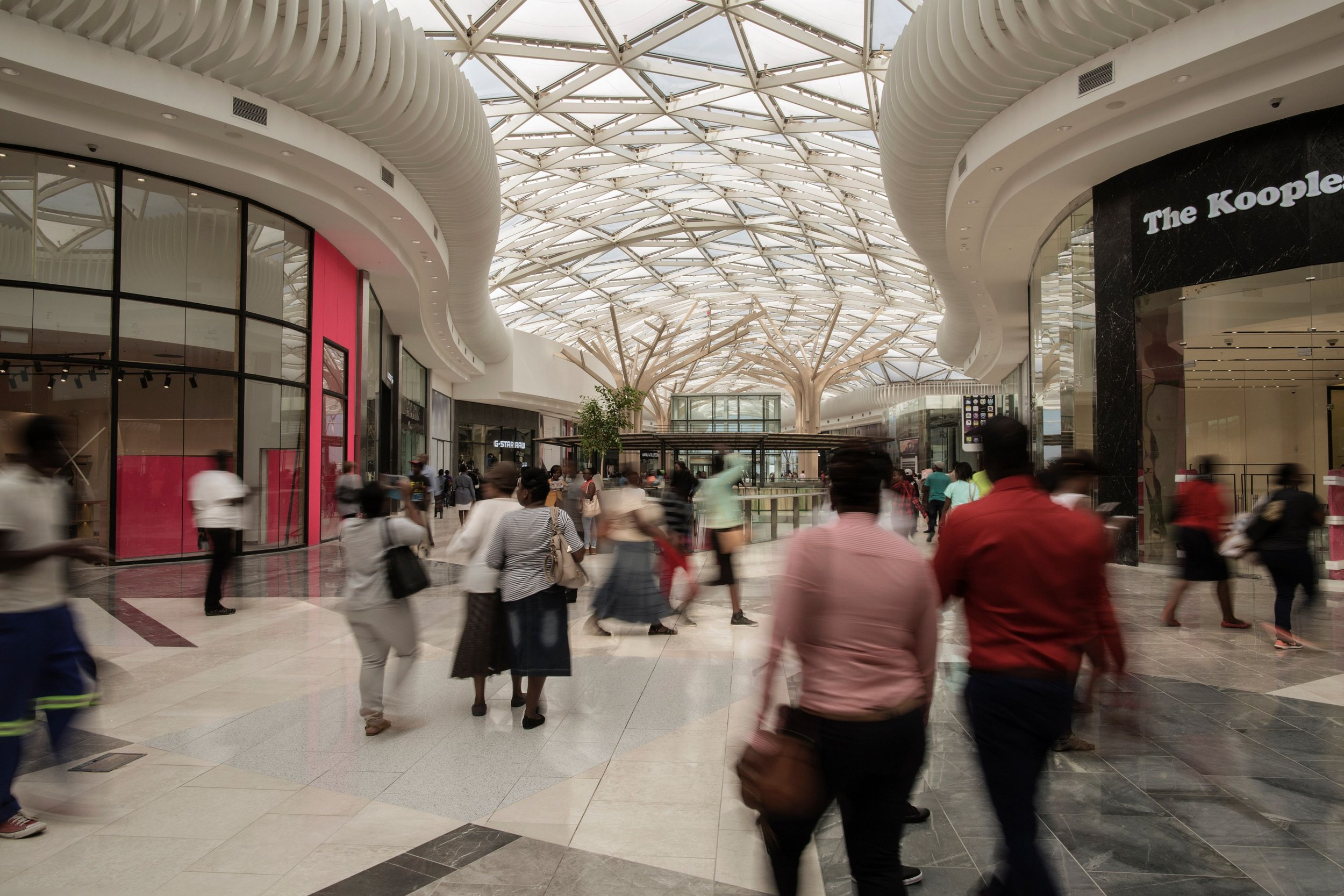 South Africa shopping mall.