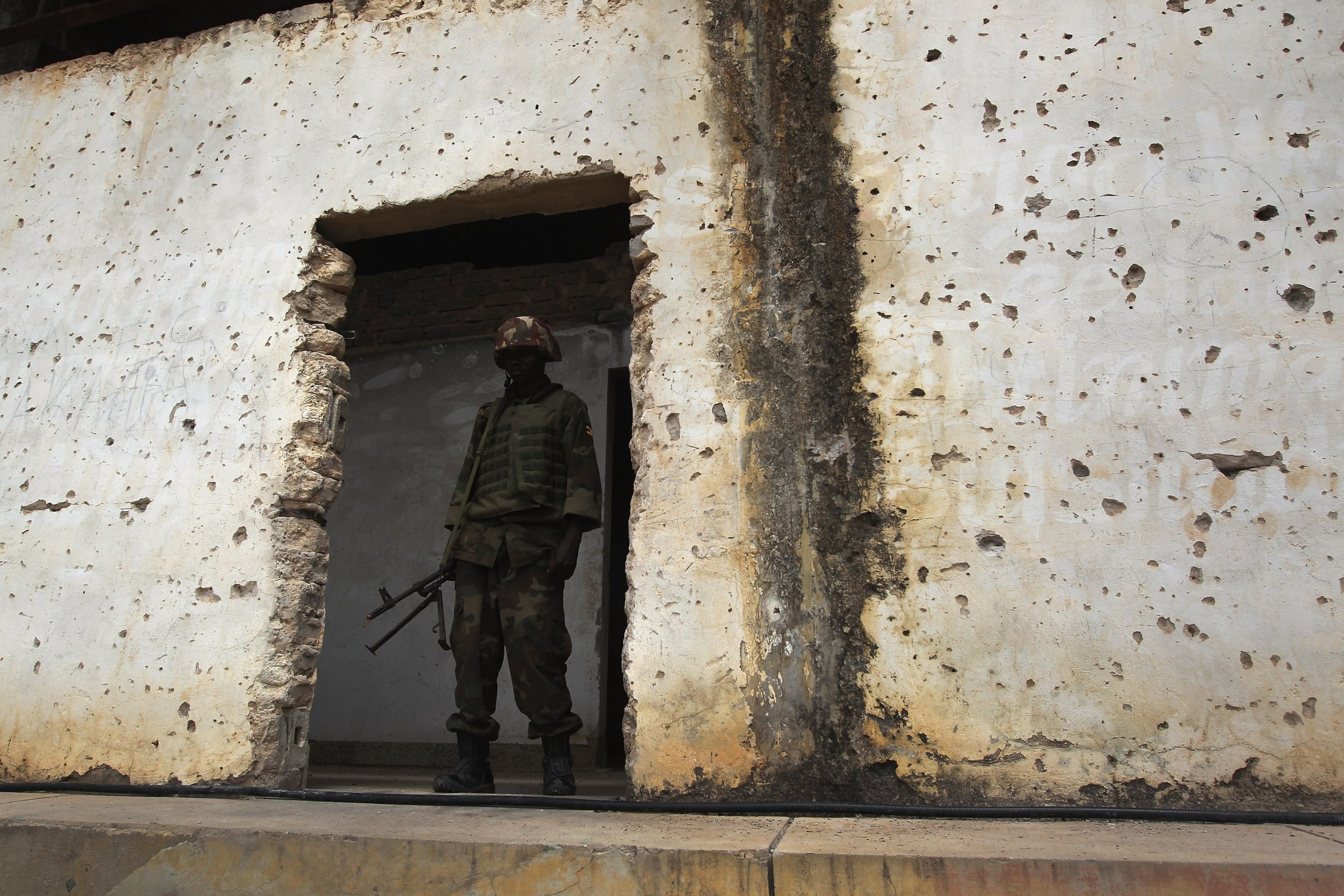 AMISOM soldier in Somalia.