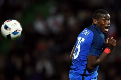 France and Juventus midfielder Paul Pogba.