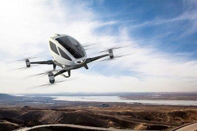 drone taxi ehang passenger nevada
