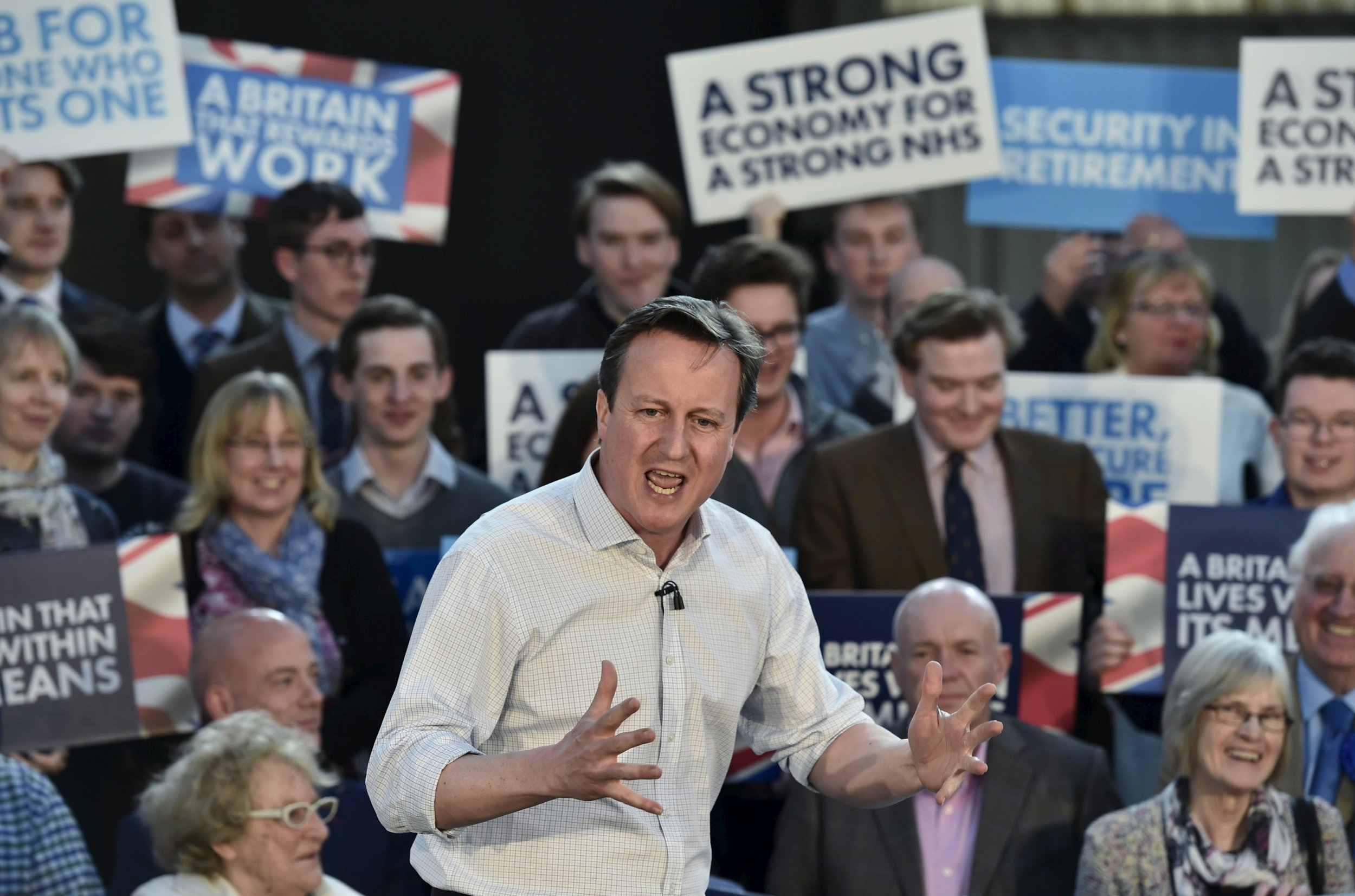 Conservative campaign rally