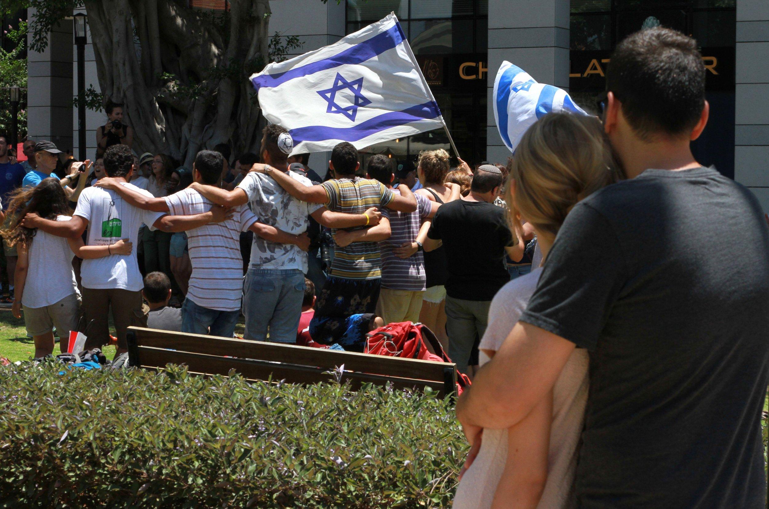 Tel Aviv mourners