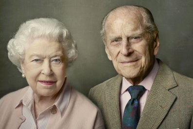 Queen Elizabeth 90th birthday portrait