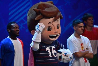 Euro 2016 mascot Super Victor.
