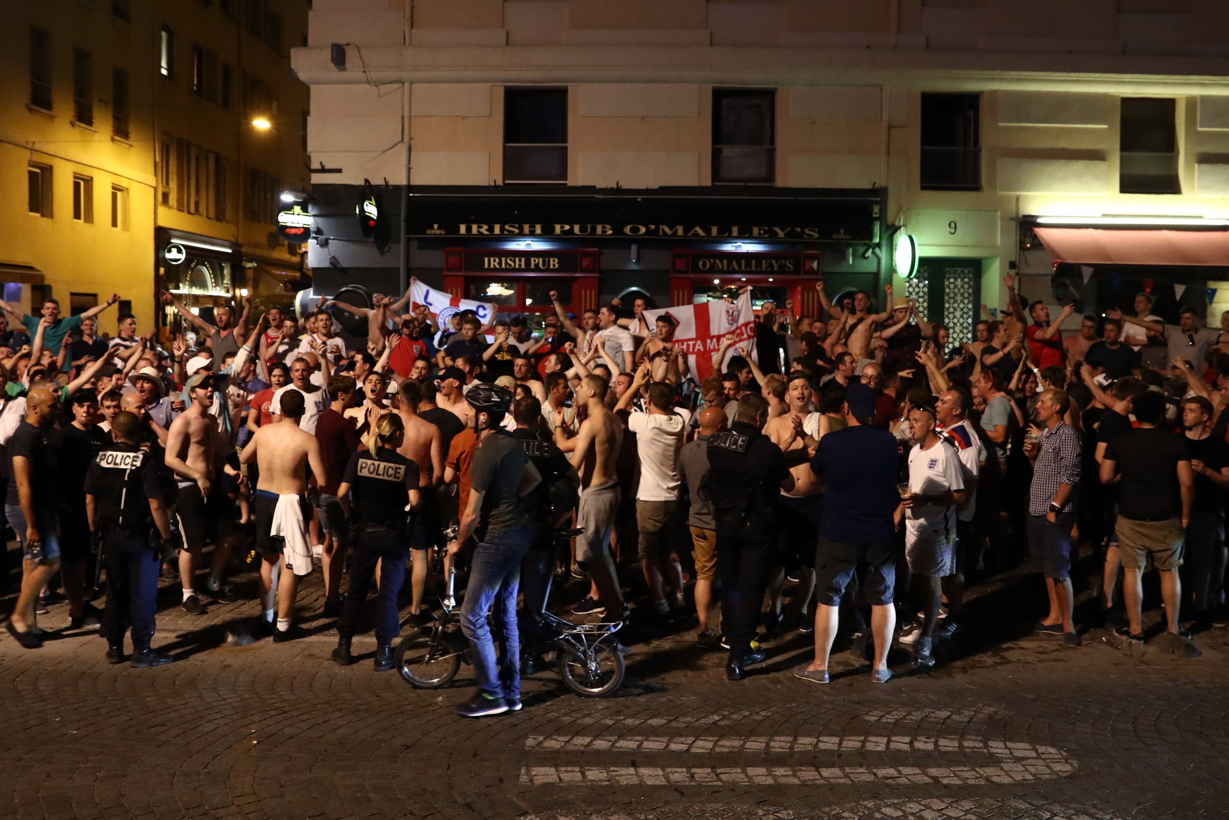 England fans in Marseille, France.