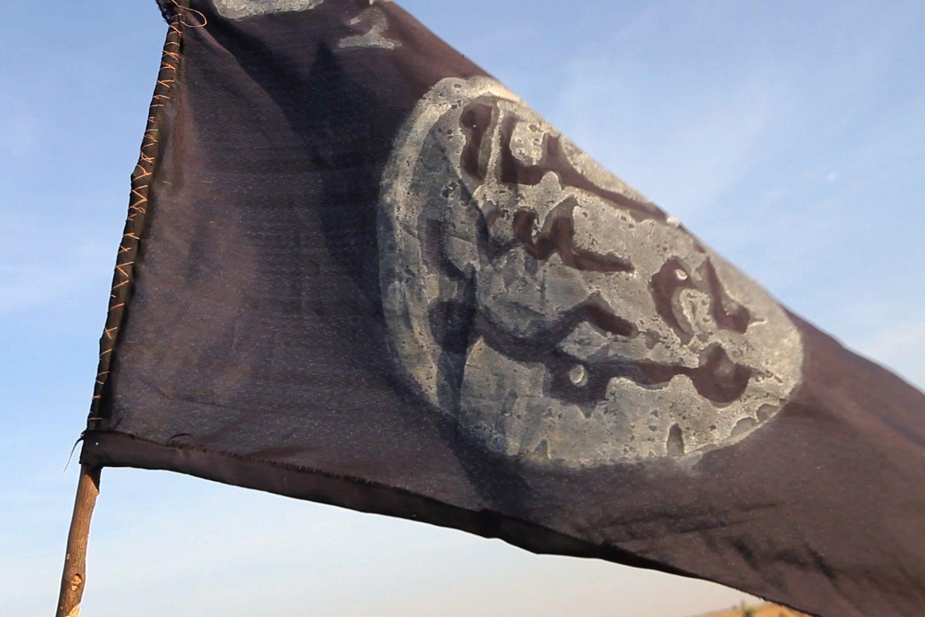 Boko Haram flag in Nigeria.