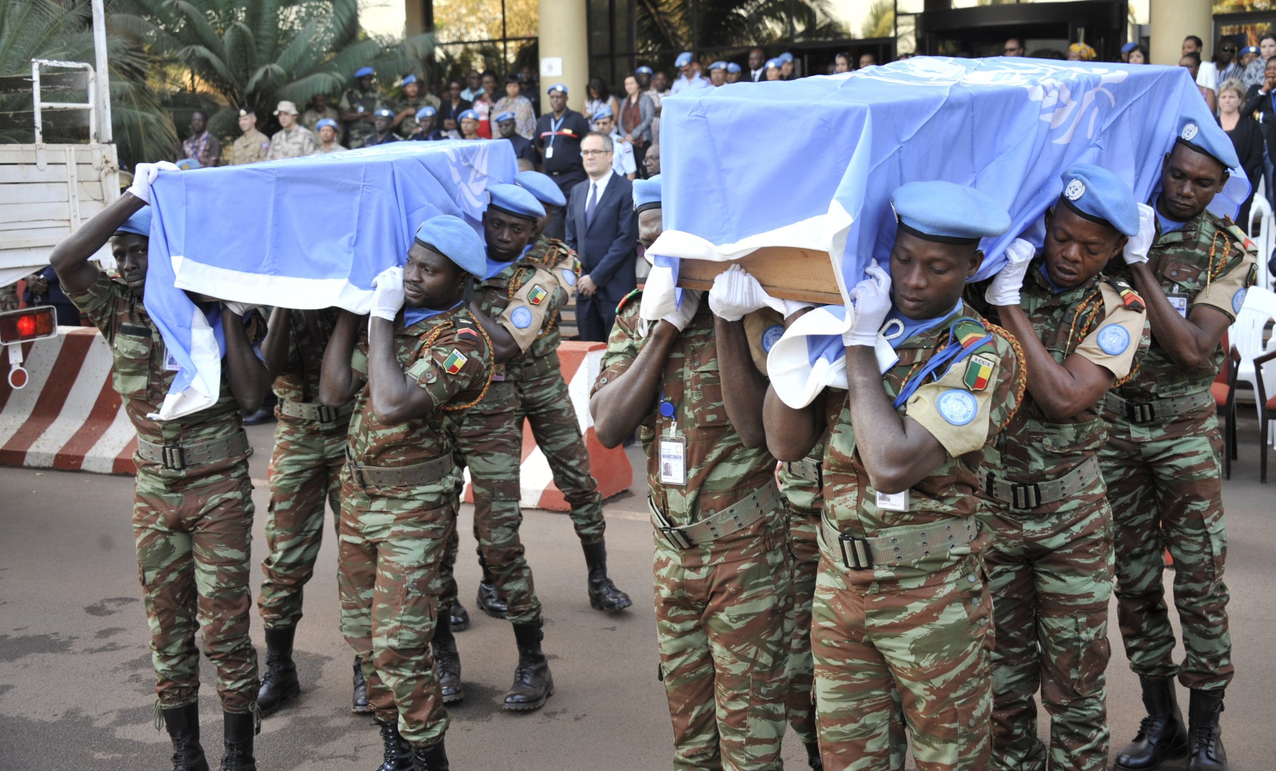 U.N. peacekeepers funeral.