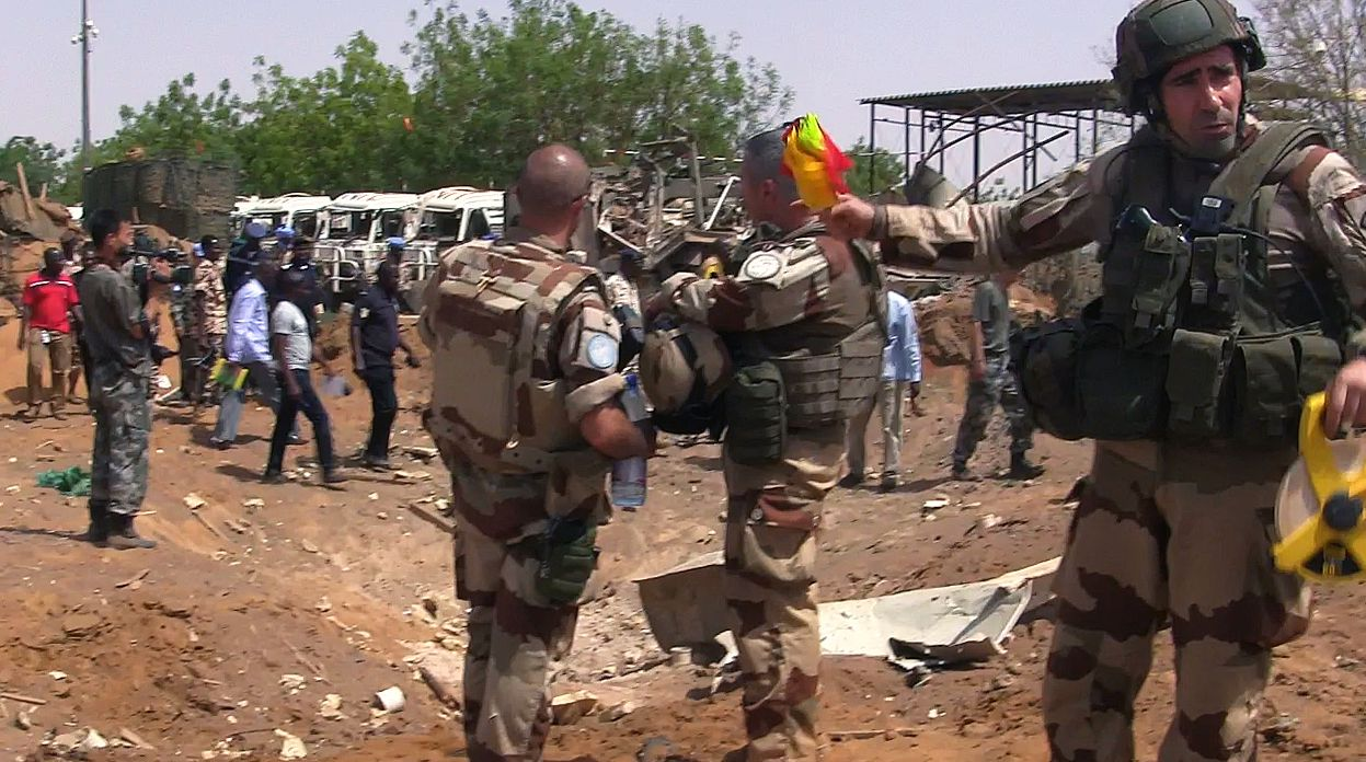 Gao peacekeepers base after attack.