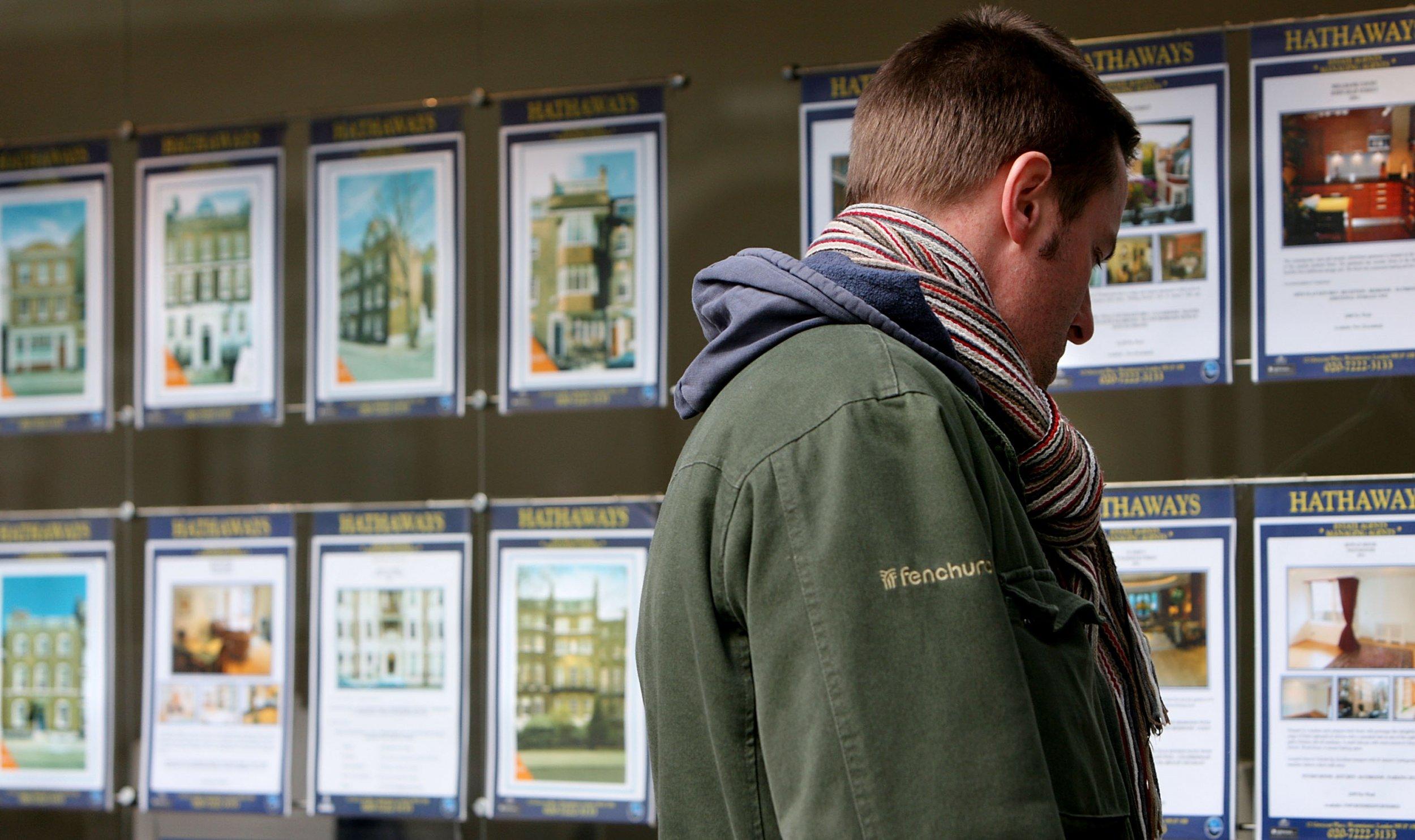 Man browsing properties