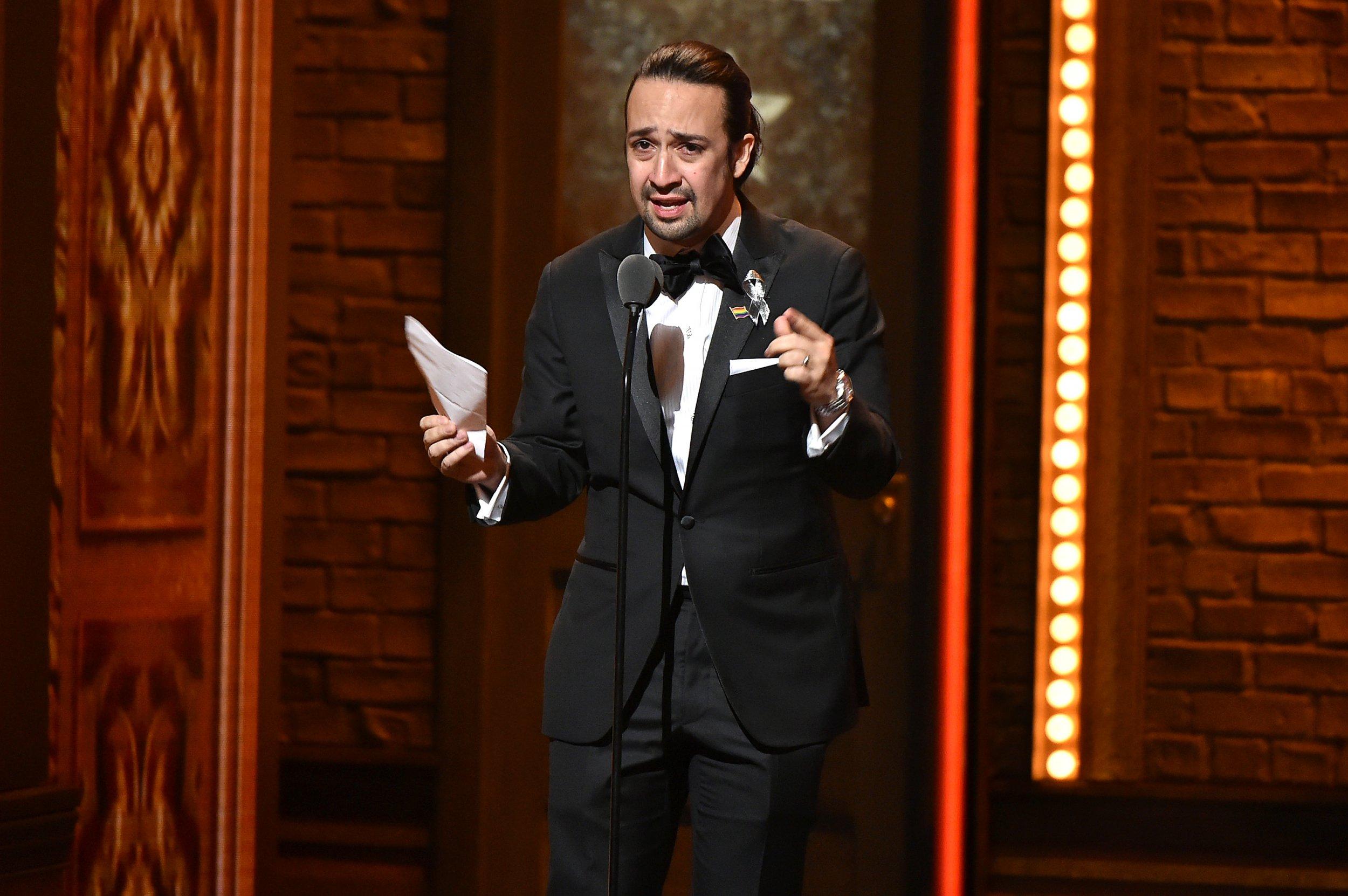 Lin-Manuel Miranda at Tony Awards