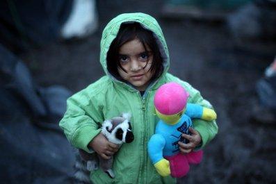 A young Kurdish girl