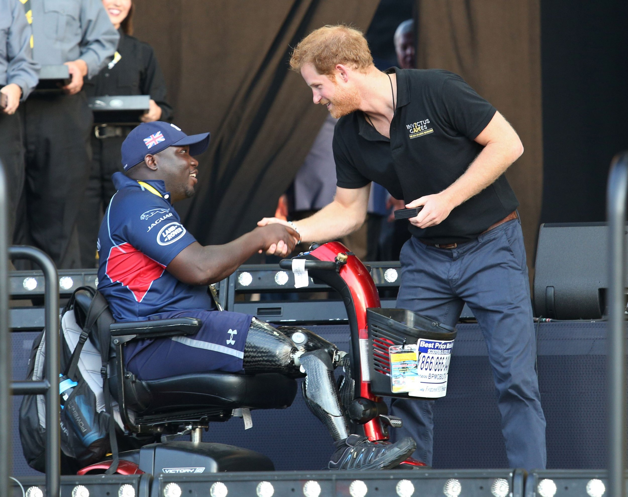 Prince Harry at Invictus