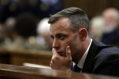 Oscar Pistorius in court.