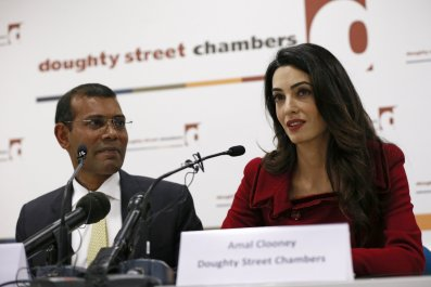 Mohamed Nasheed and Amal Clooney