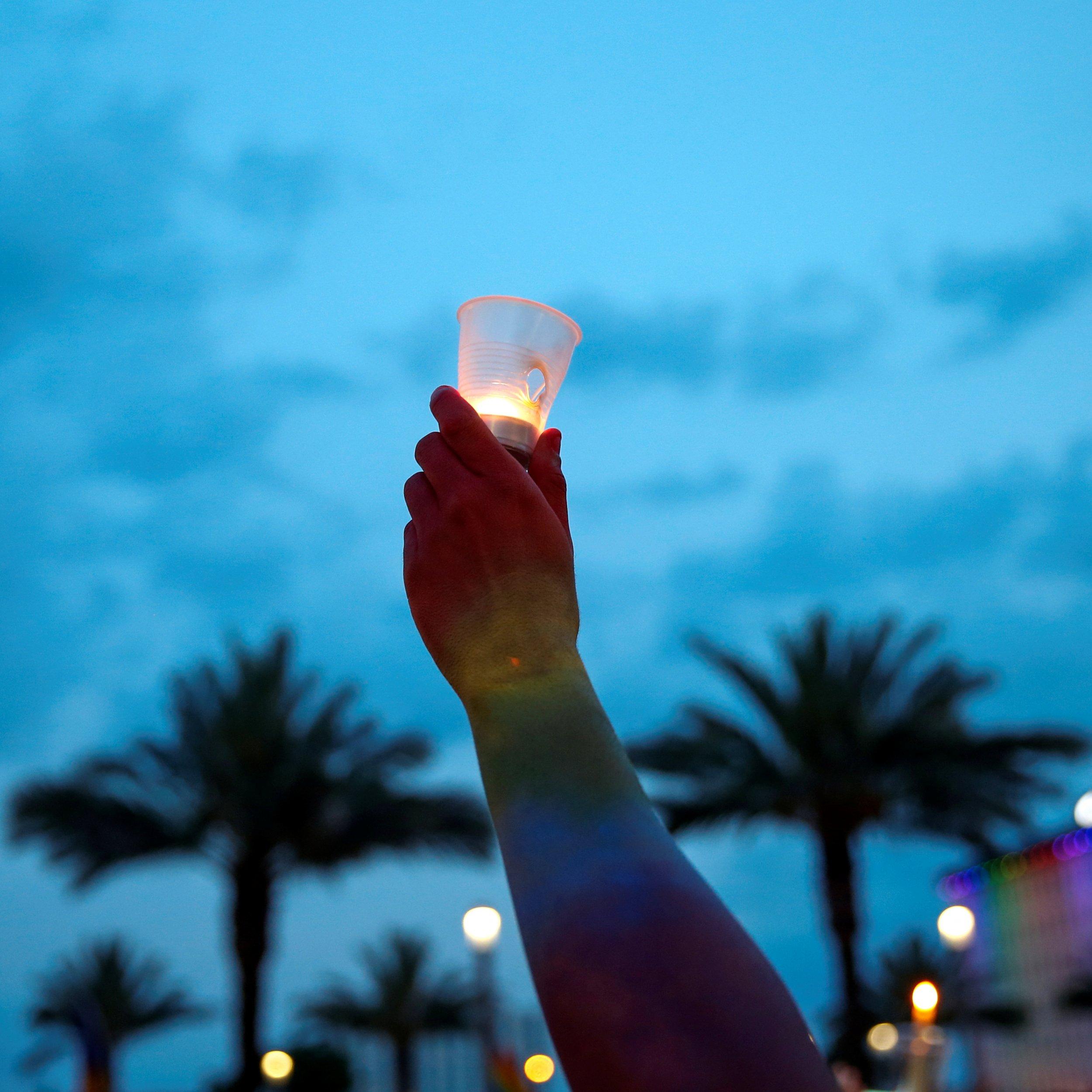 Carlos Diaz at a vigil